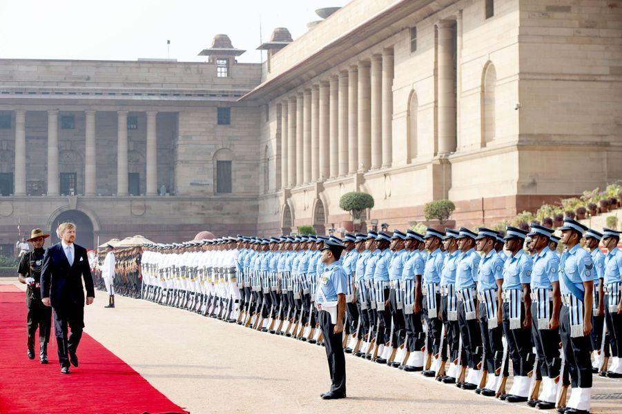 La roi Willem-Alexander des Pays-Bas à New Delhi, le 14 octobre 2019