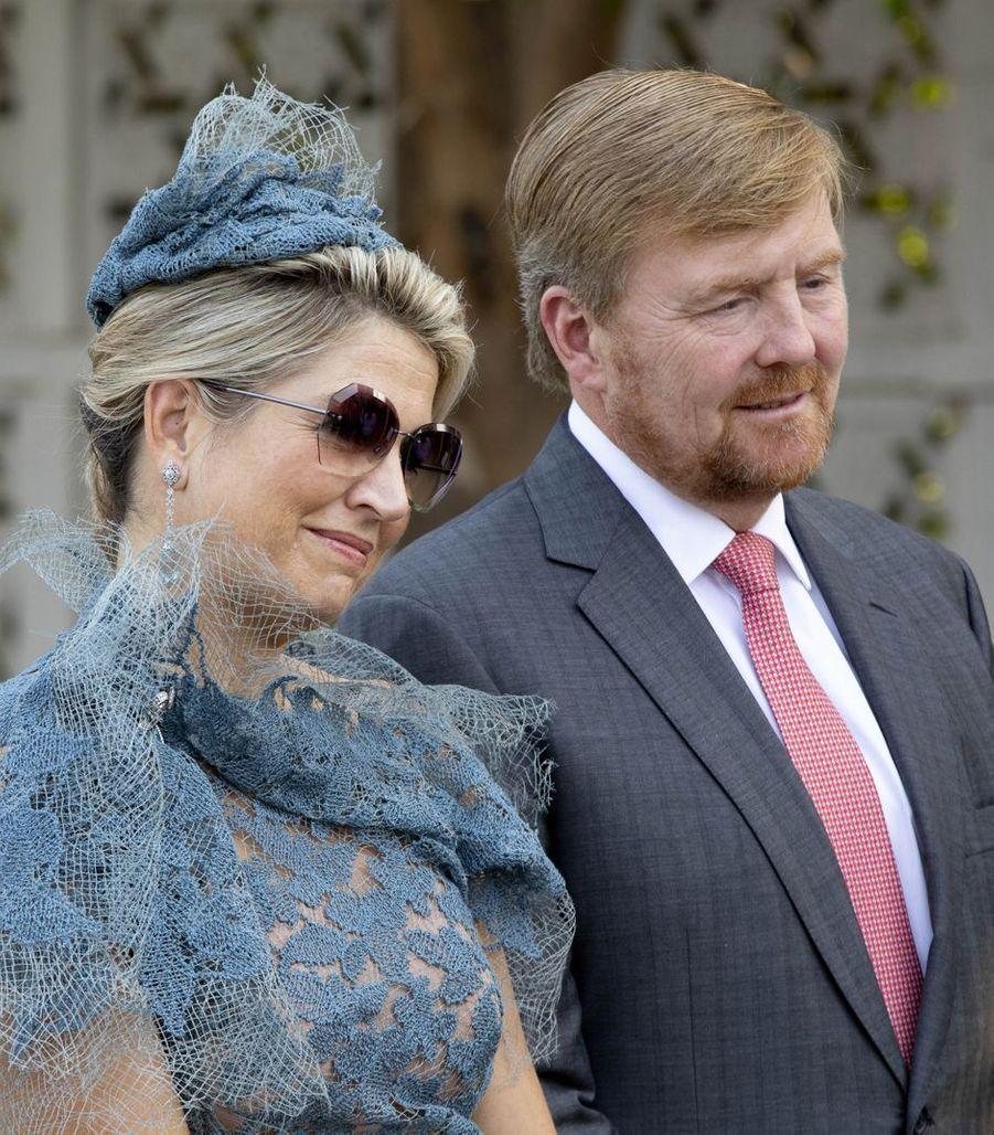 La reine Maxima et le roi Willem-Alexander des Pays-Bas à New Delhi, le 14 octobre 2019
