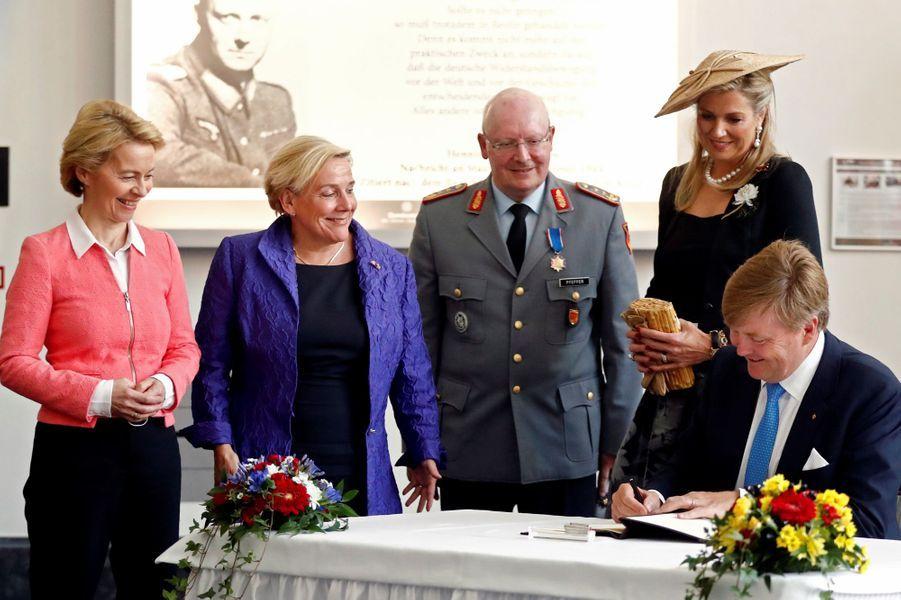 La reine Maxima et le roi Willem-Alexander des Pays-Bas à Schwielowsee près de Potsdam, le 21 mai 2019