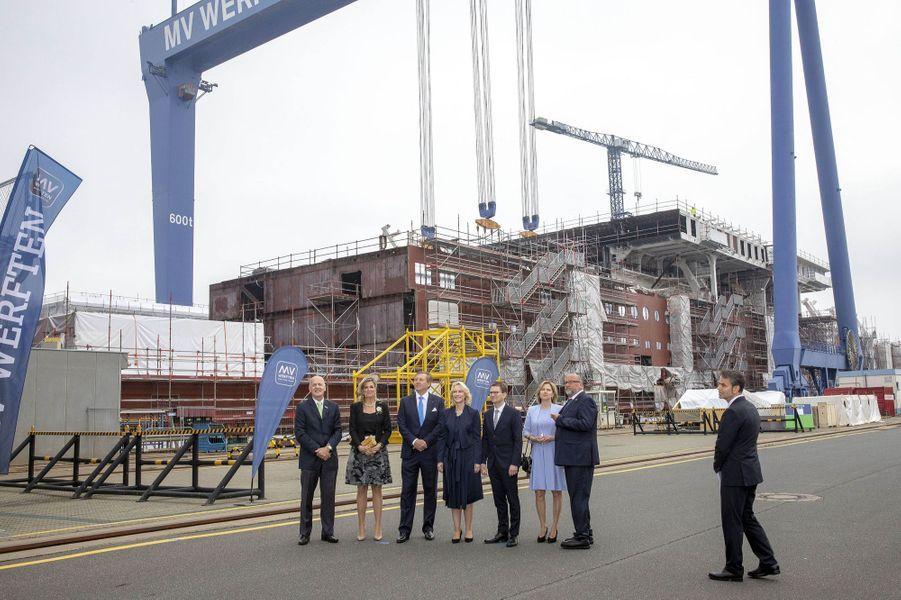 La reine Maxima et le roi Willem-Alexander des Pays-Bas à Rostock, le 21 mai 2019