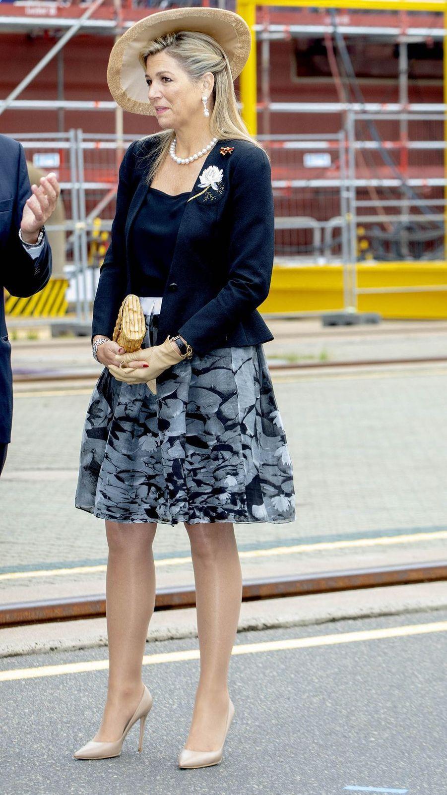 La reine Maxima des Pays-Bas à Rostock, le 21 mai 2019