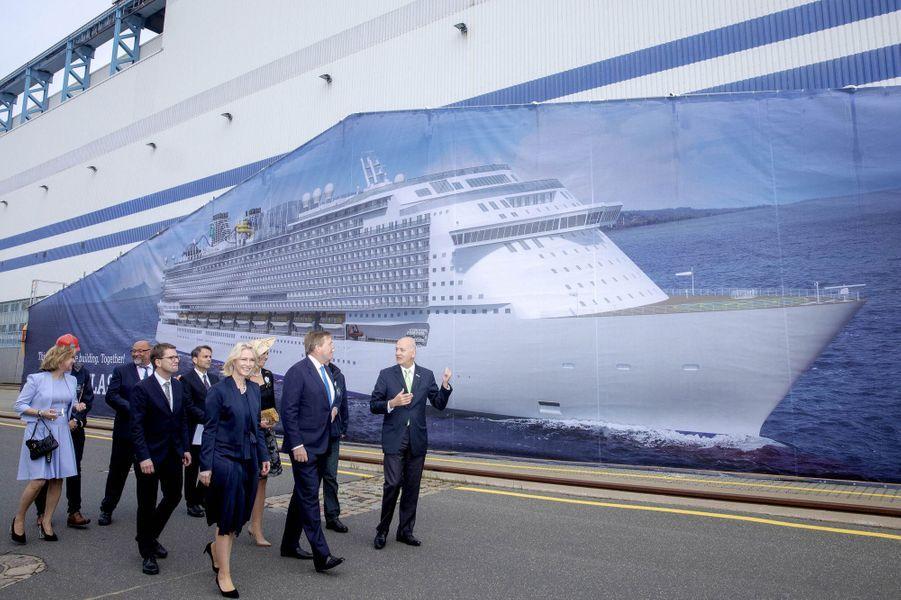 La reine Maxima et le roi Willem-Alexander des Pays-Bas à Rostock en Allemagne, le 21 mai 2019