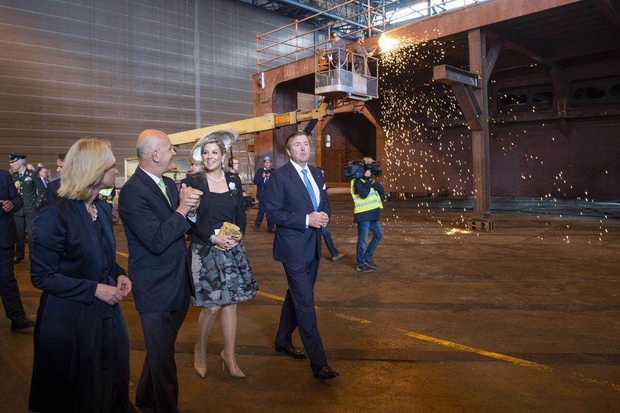 Le roi Willem-Alexander et la reine Maxima des Pays-Bas à Rostock, le 21 mai 2019