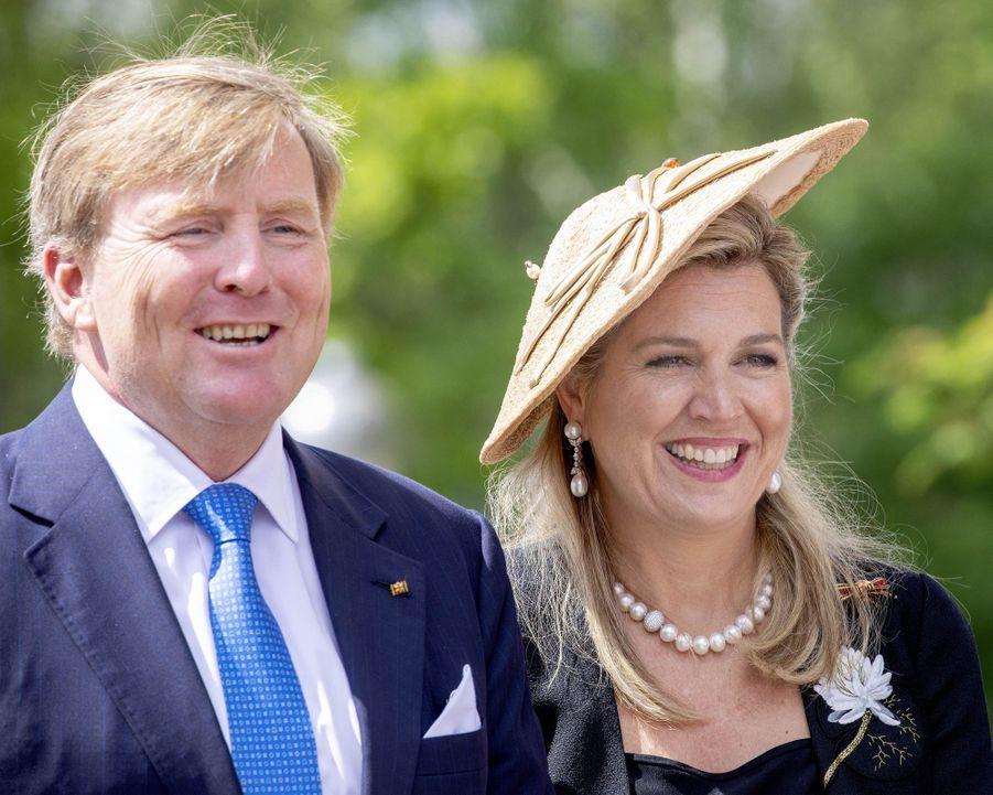 La reine Maxima et le roi Willem-Alexander des Pays-Bas à Bollewick, le 21 mai 2019