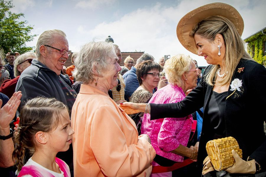 La reine Maxima des Pays-Bas à Bollewick, le 21 mai 2019