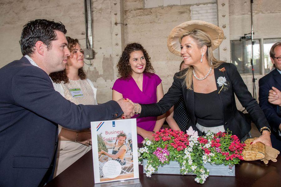 La reine Maxima des Pays-Bas à Nauen, le 21 mai 2019