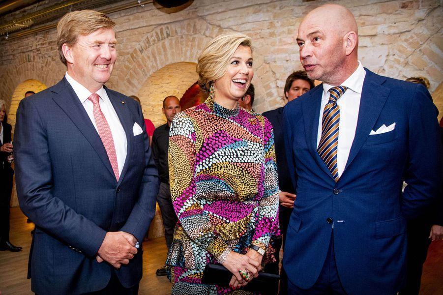 La reine Maxima et le roi Willem-Alexander des Pays-Bas à Werder près de Potsdam, le 21 mai 2019