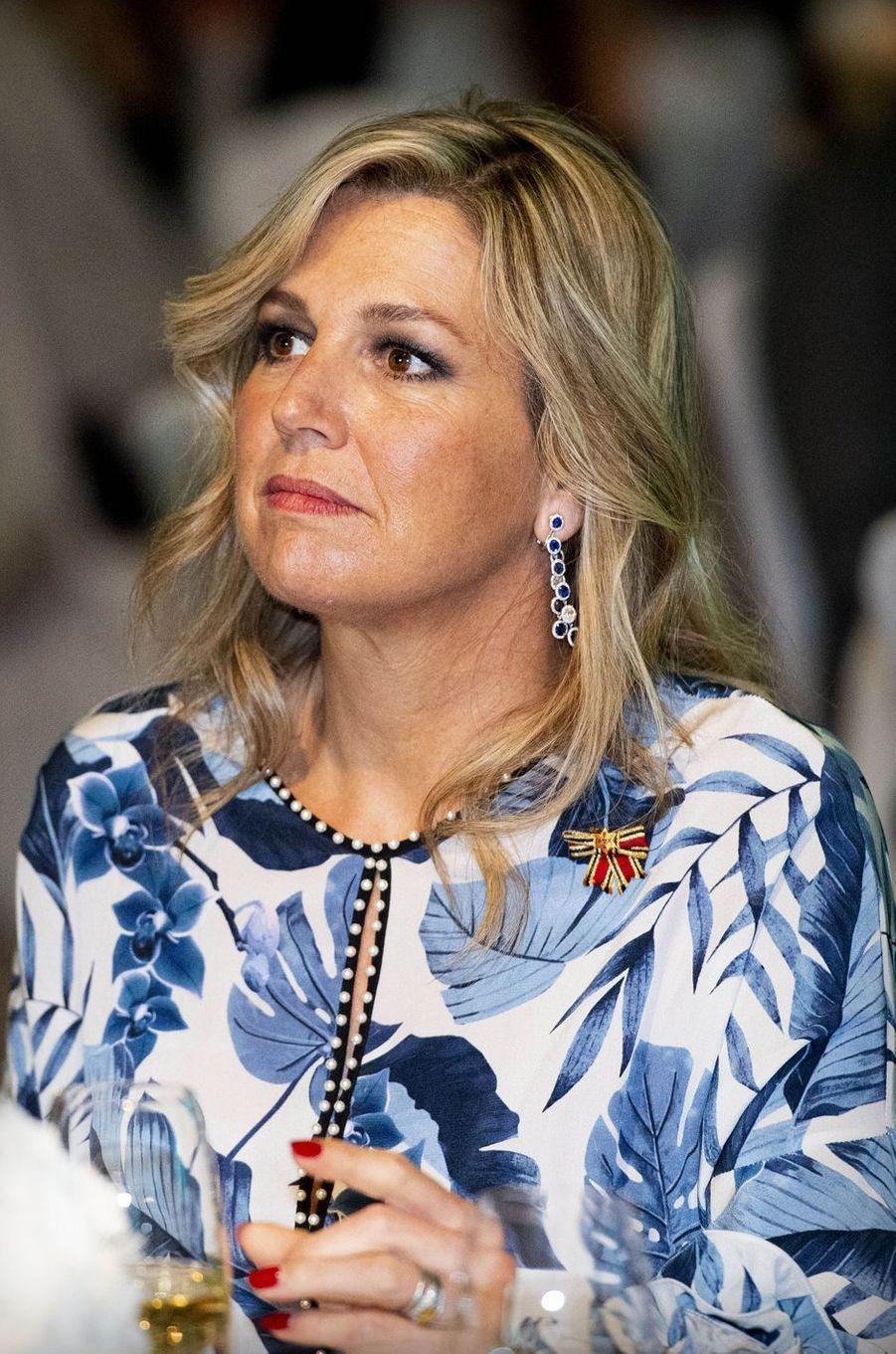 La reine Maxima des Pays-Bas à Warnemünde, le 20 mai 2019