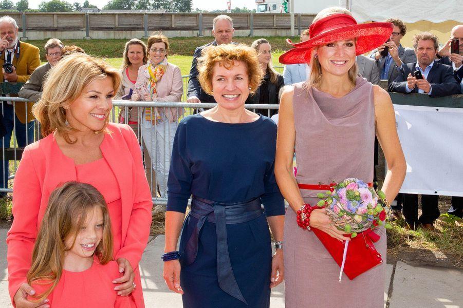 La reine Maxima des Pays-Bas à Zevenhuizen, le 9 juillet 2015
