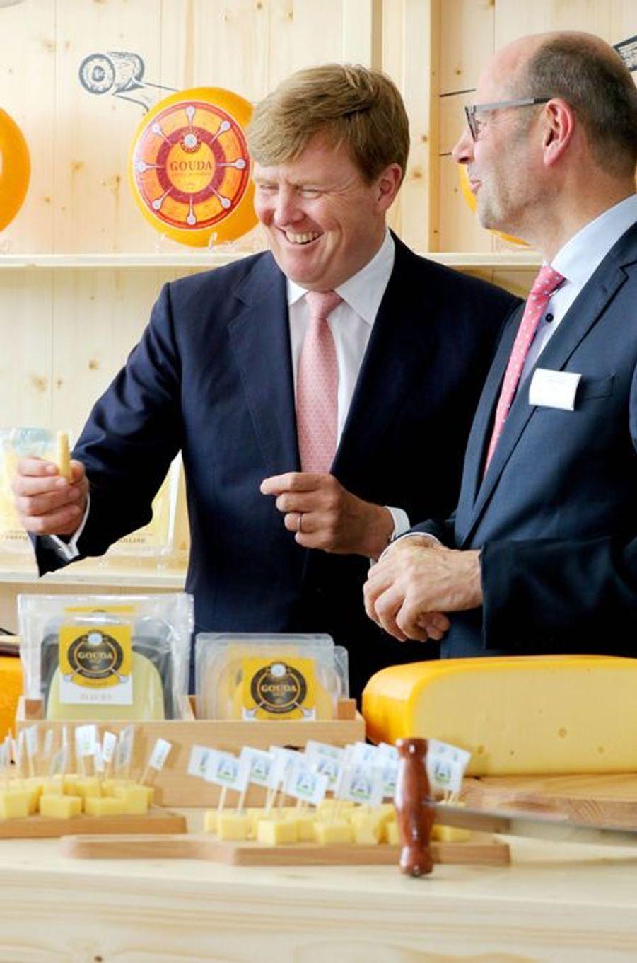 Le roi Willem-Alexander des Pays-Bas à Heerenveen, le 8 juillet 2015