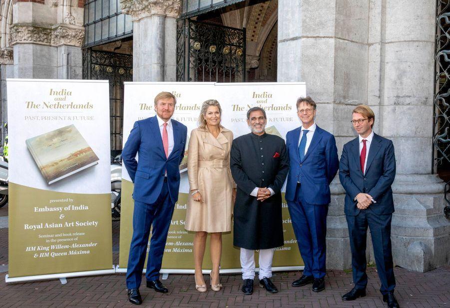 La reine Maxima et le roi Willem-Alexander des Pays-Bas, le 30 septembre 2019 à Amsterdam