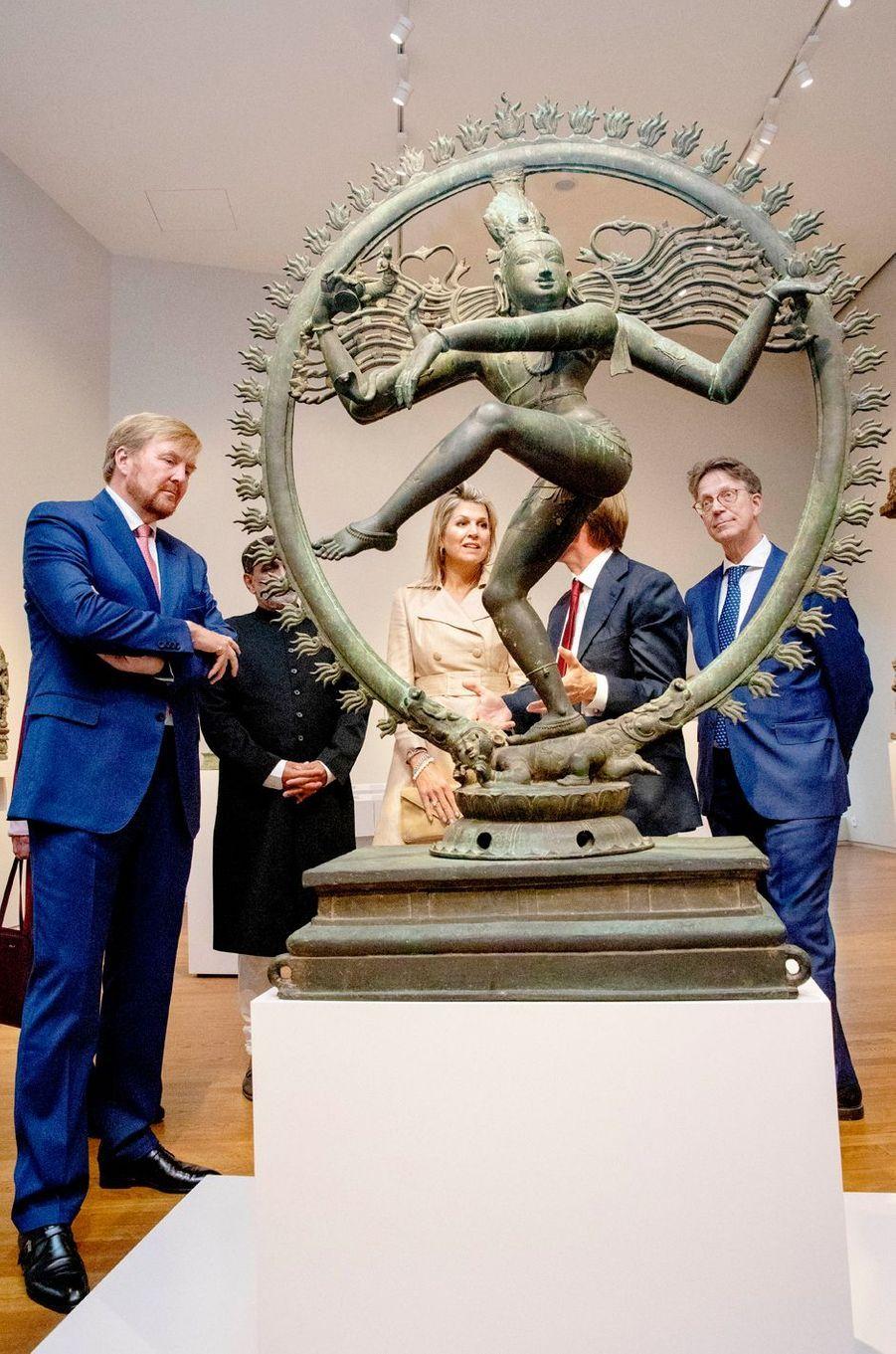 La reine Maxima et le roi Willem-Alexander des Pays-Bas à Amsterdam, le 30 septembre 2019