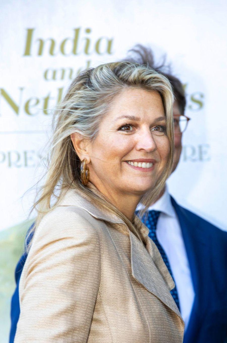La reine Maxima des Pays-Bas à Amsterdam, le 30 septembre 2019