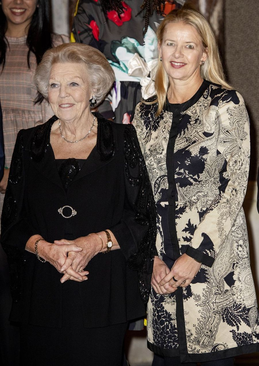 Les princesses Beatrix et Mabel des Pays-Bas à Amsterdam, le 4 décembre 2019