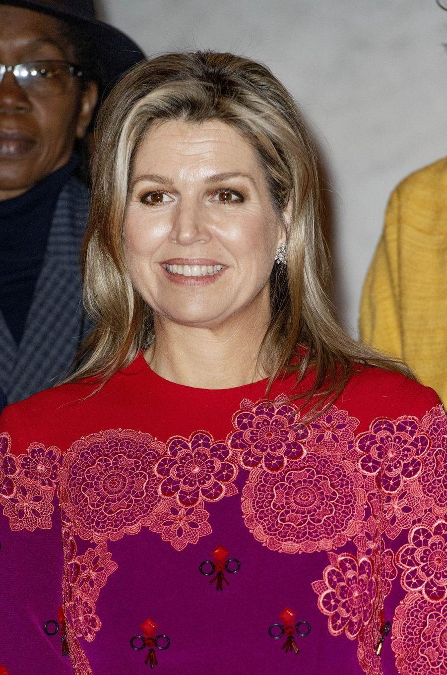 La reine Maxima des Pays-Bas à Amsterdam, le 4 décembre 2019