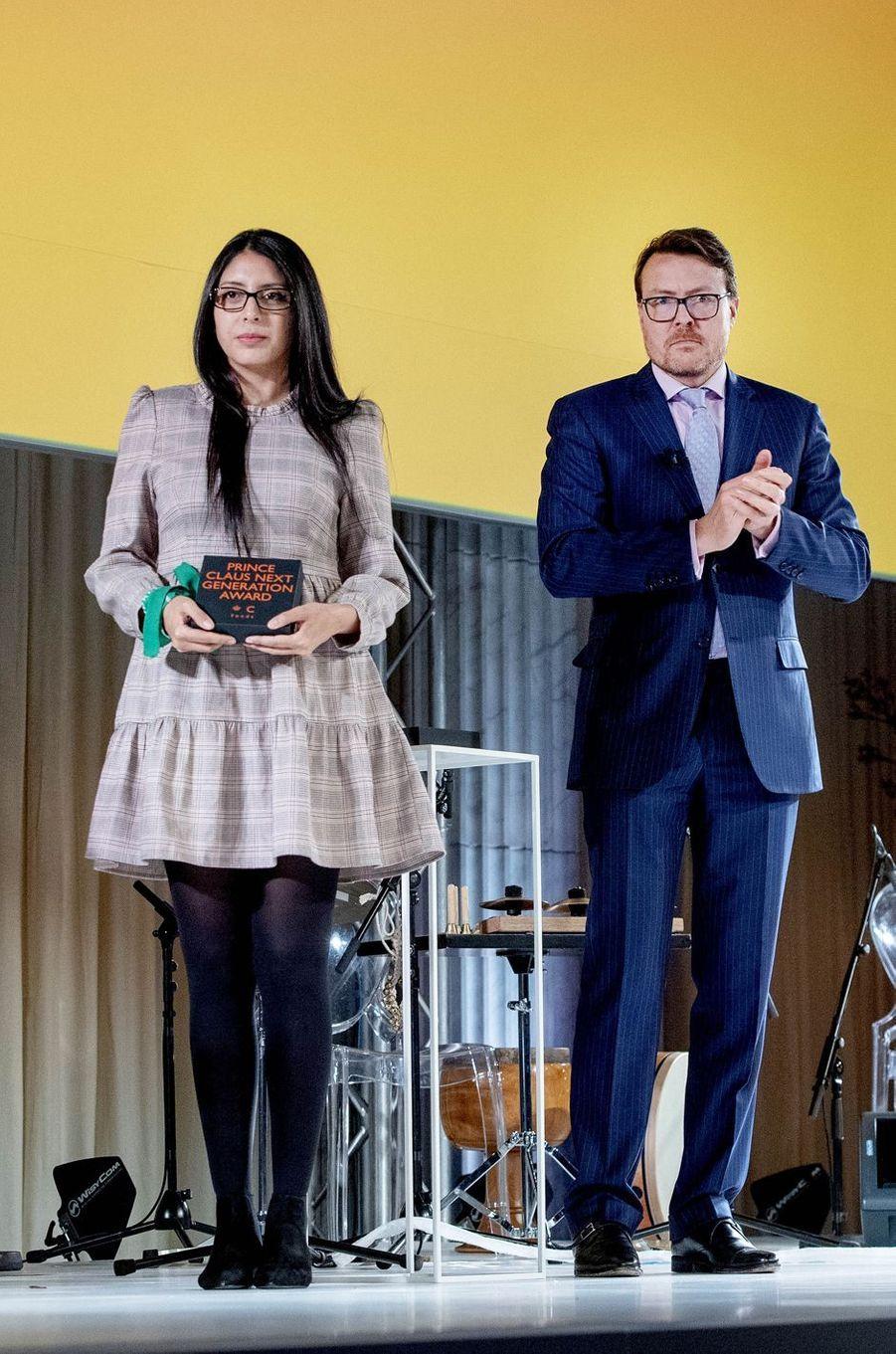 Le prince Constantijn des Pays-Bas avec Monica Ojeda Franco à Amsterdam, le 4 décembre 2019