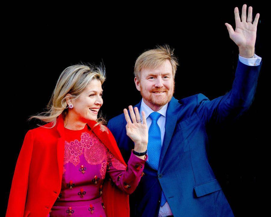 La reine Maxima et le roi Willem-Alexander des Pays-Bas à Amsterdam, le 4 décembre 2019