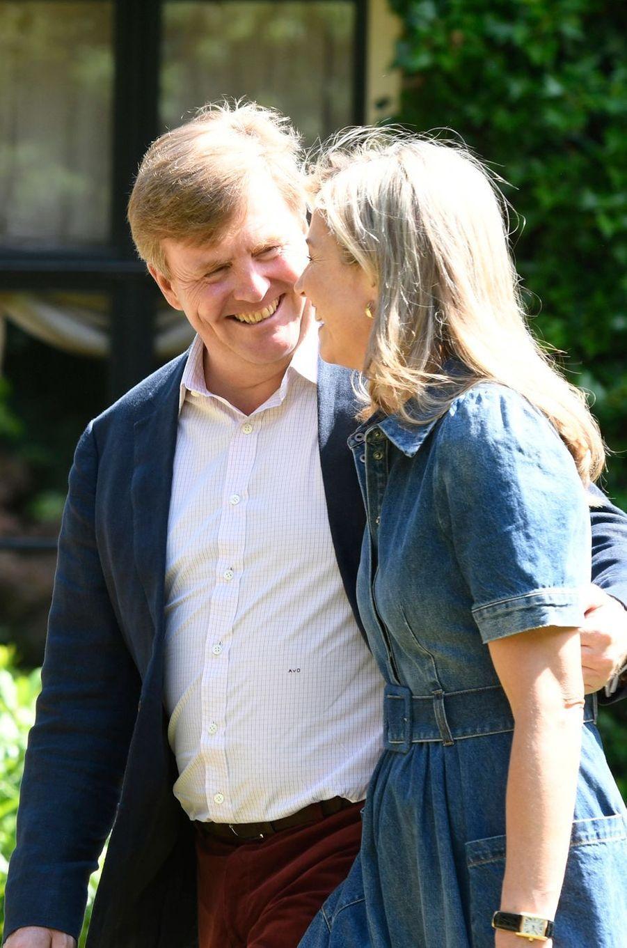 Le roi Willem-Alexander et la reine Maxima des Pays-Bas à Wassenaar, le 13 juillet 2018