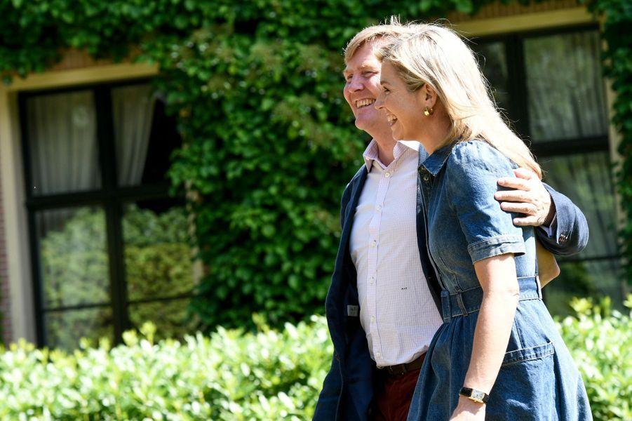 La reine Maxima et le roi Willem-Alexander des Pays-Bas à Wassenaar, le 13 juillet 2018