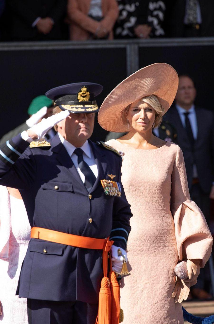 La reine Maxima avec le roi Willem-Alexander des Pays-Bas à la Haye, le 31 août 2018