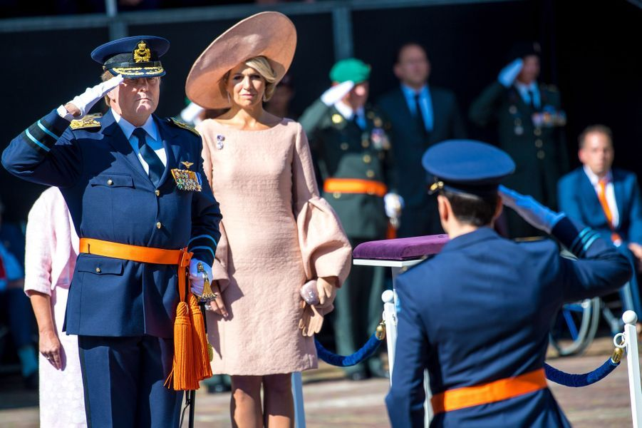 La reine Maxima fait sa rentrée avec le roi Willem-Alexander des Pays-Bas à la Haye, le 31 août 2018