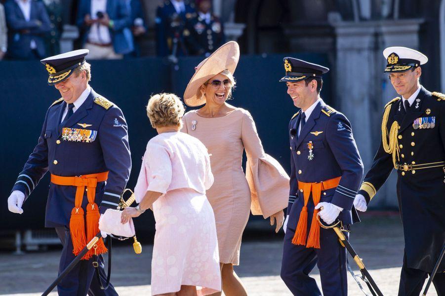 La reine Maxima et le roi Willem-Alexander des Pays-Bas à la Haye, le 31 août 2018