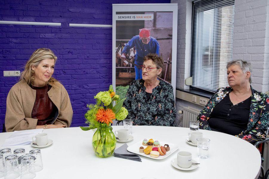 La reine Maxima des Pays-Bas à Varsseveld, le 3 avril 2019