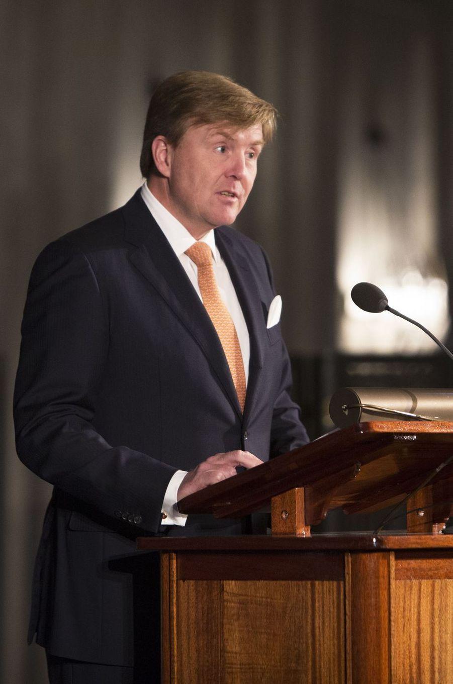 Le roi Willem-Alexander des Pays-Bas à Amsterdam, le 27 novembre 2018