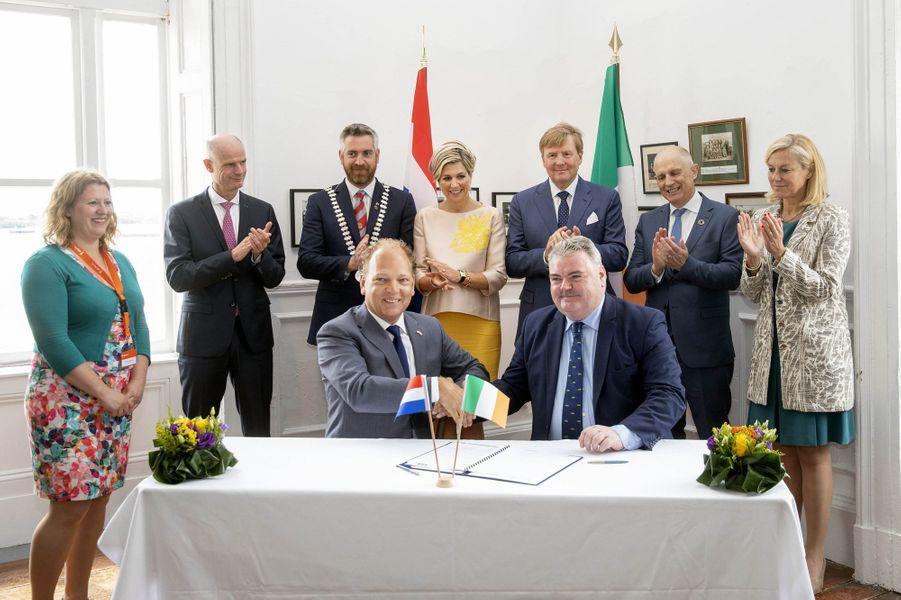 La reine Maxima et le roi Willem-Alexander des Pays-Bas à Cobn en Irlande, le 14 juin 2019
