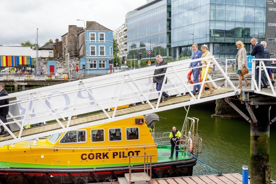 La reine Maxima et le roi Willem-Alexander des Pays-Bas à Cork, le 14 juin 2019