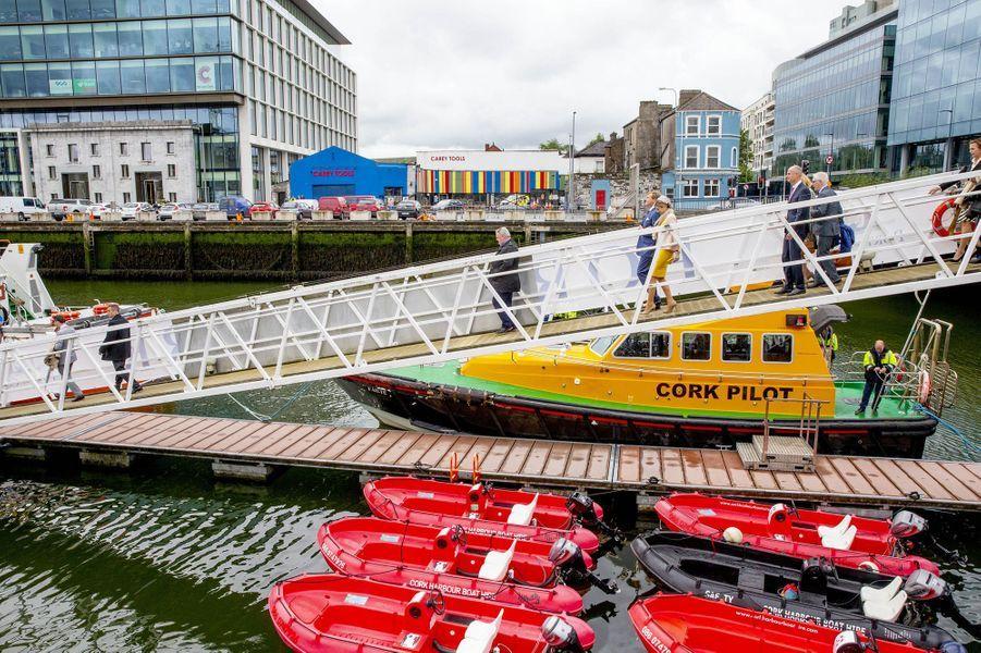 La reine Maxima et le roi Willem-Alexander des Pays-Bas à Cork en Irlande, le 14 juin 2019