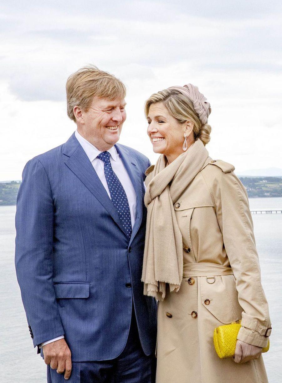 La reine Maxima et le roi Willem-Alexander des Pays-Bas à Crosshaven en Irlande, le 14 juin 2019