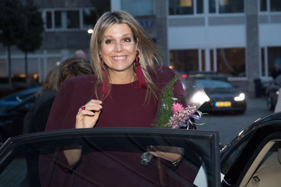 La reine Maxima des Pays-Bas à La Haye, le 29 janvier 2019