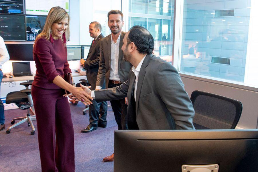 La reine Maxima des Pays-Bas visite AFAS Software à Leusden, le 29 janvier 2019
