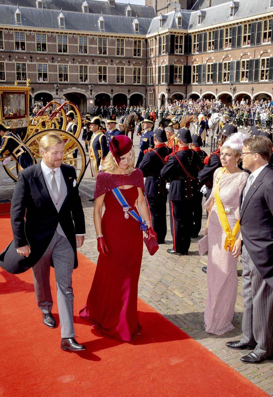 La reine Maxima et le roi Willem-Alexander des Pays-Bas avec la princesse Laurentien et le prince Constantijn à La Haye, le 17 septembre 2019