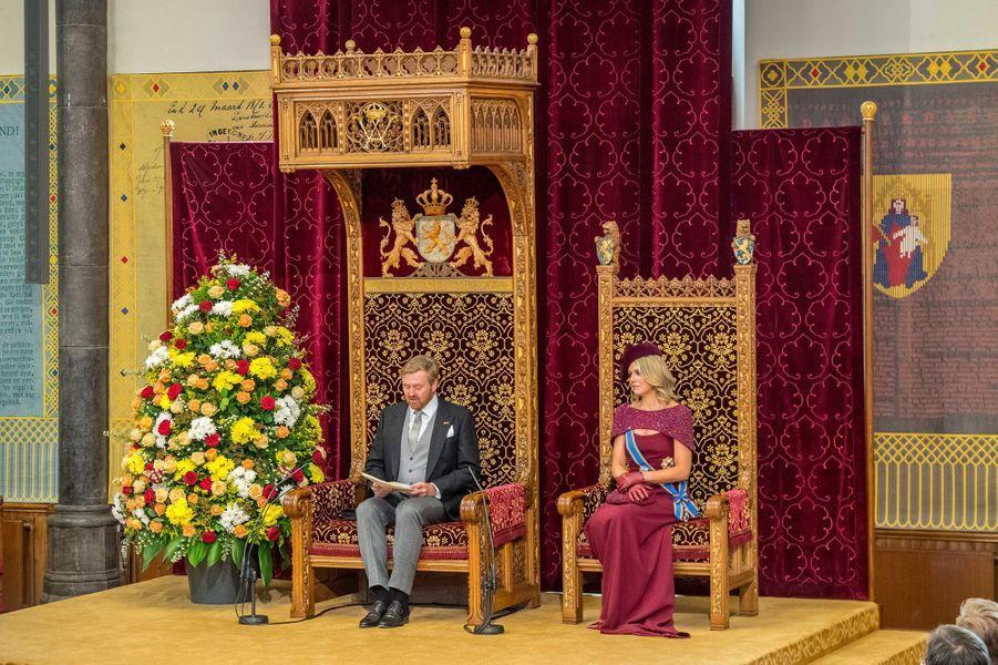 La reine Maxima et le roi Willem-Alexander des Pays-Bas à La Haye, le 17 septembre 2019