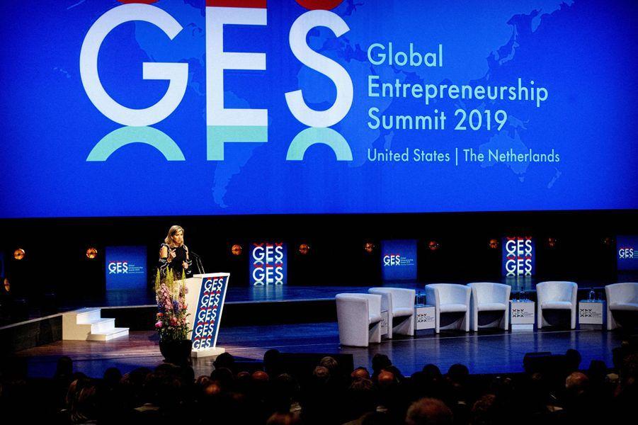 La reine Maxima des Pays-Bas au Global Entrepreneurship Summit à La Haye, le 4 juin 2019