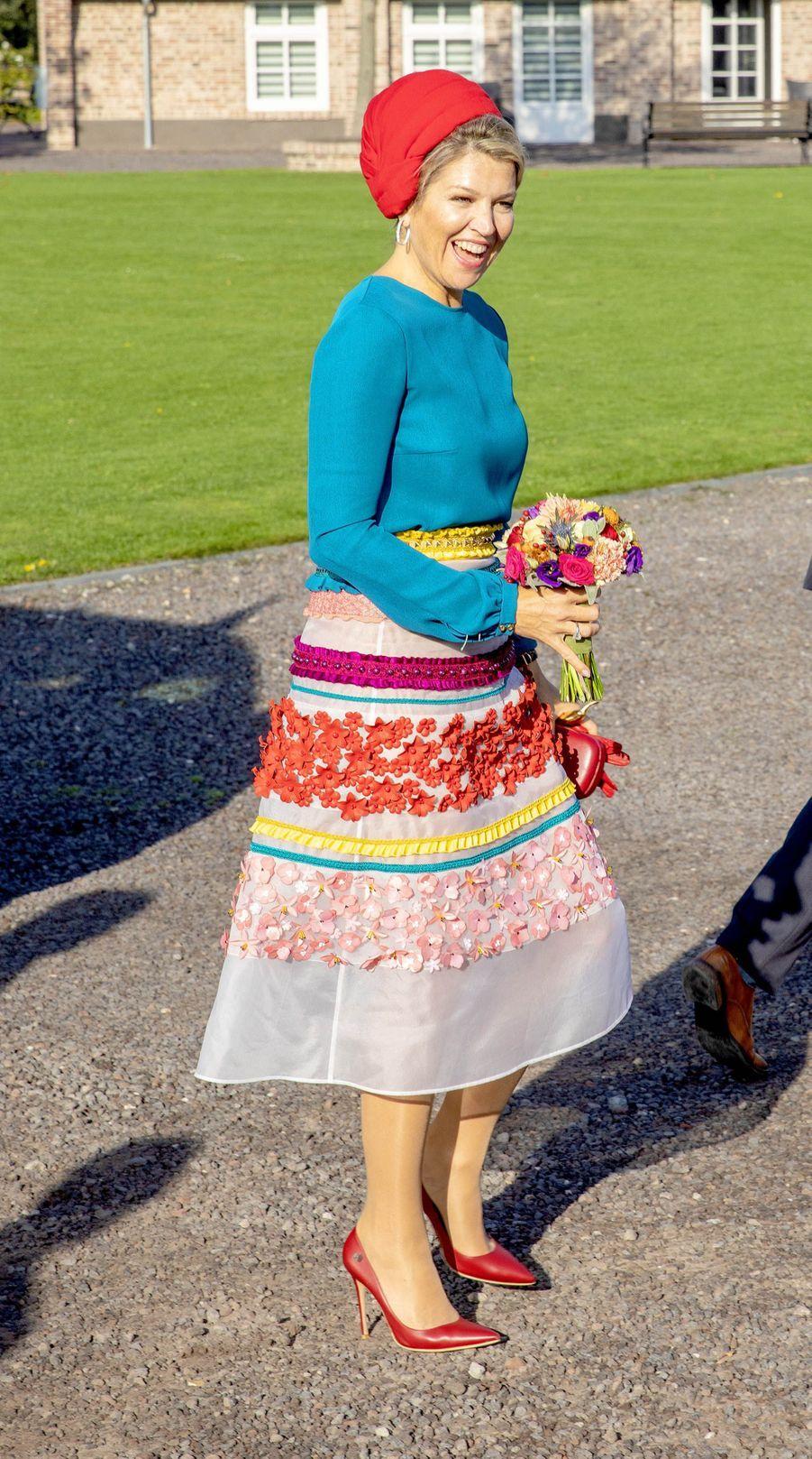 La reine Maxima des Pays-Bas, le 16 octobre 2018 en Zélande