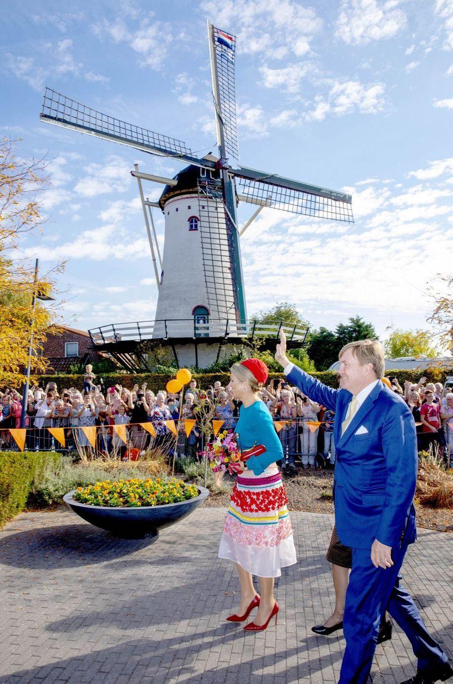 La reine Maxima et le roi Willem-Alexander des Pays-Bas en Zélande, le 16 octobre 2018