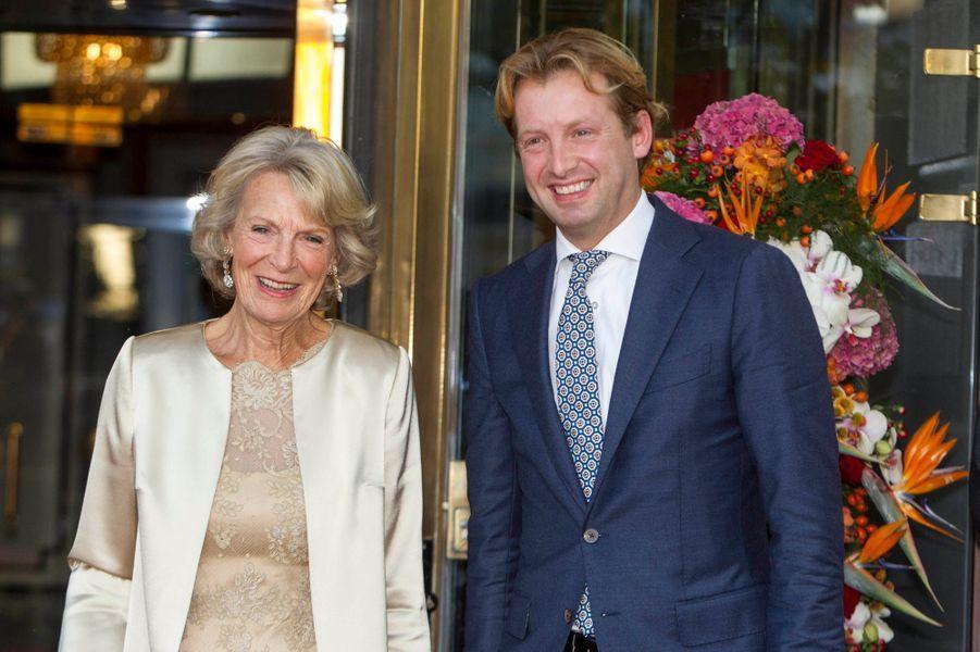 La princesse Irène et le prince Floris des Pays-Bas à Amsterdam, le 26 septembre 2015
