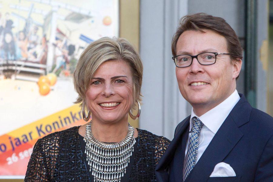 La princesse Laurentien et le prince Constantijn à Amsterdam, le 26 septembre 2015