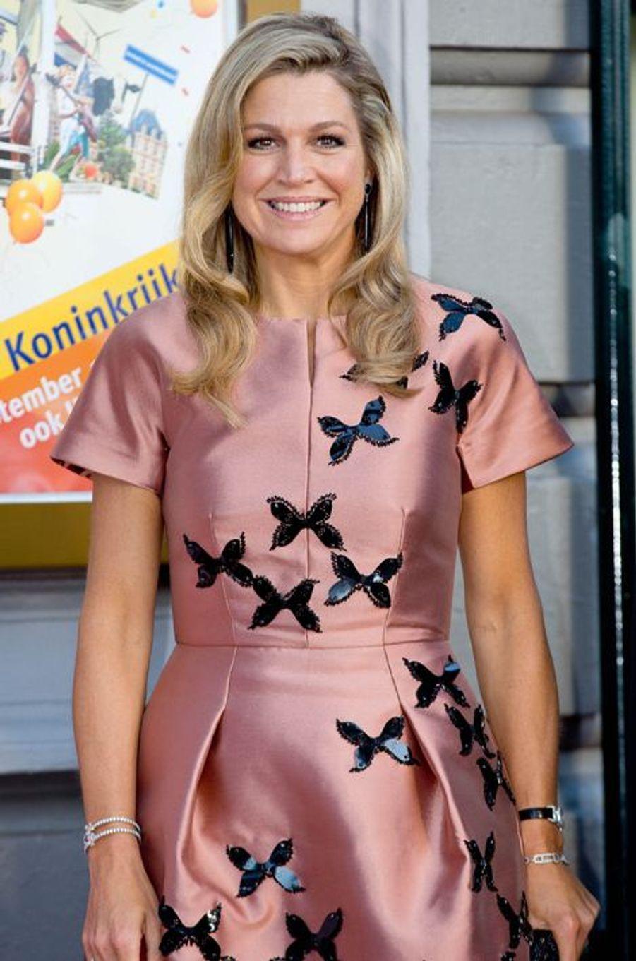 La reine Maxima des Pays-Bas à Amsterdam, le 26 septembre 2015