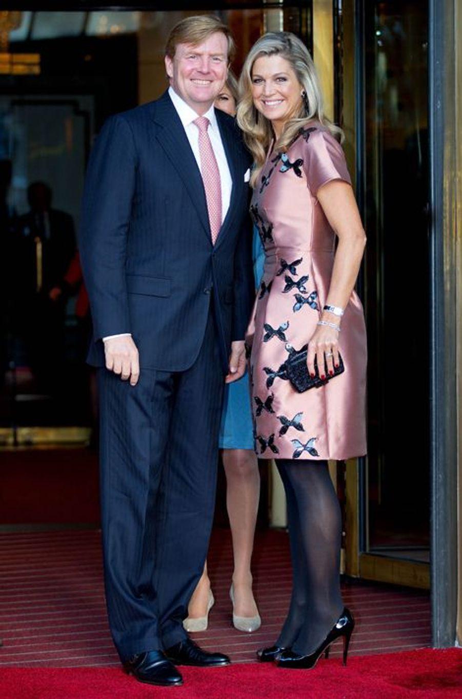 La reine Maxima et le roi Willem-Alexander des Pays-Bas à Amsterdam, le 26 septembre 2015