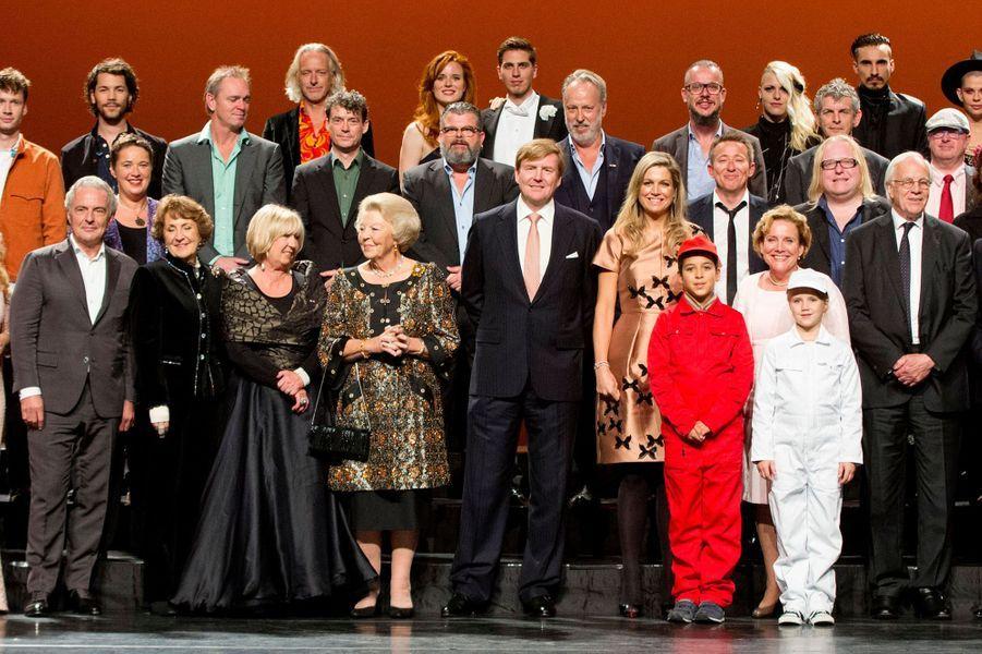 La reine Maxima, le roi Willem-Alexander et la princesse Beatrix des Pays-Bas à Amsterdam, le 26 septembre 2015