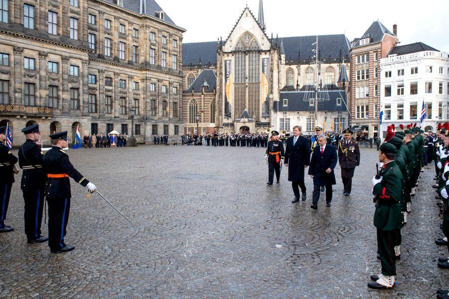 Le roi Willem-Alexander des Pays-Bas et le président du Cap Vert à Amsterdam, le 10 décembre 2018