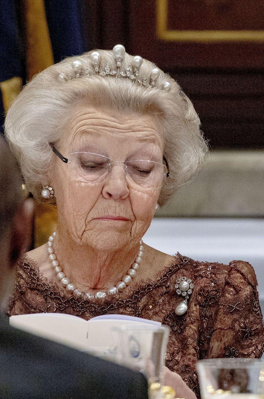 L'ex-reine Beatrix des Pays-Bas à Amsterdam, le 10 décembre 2018
