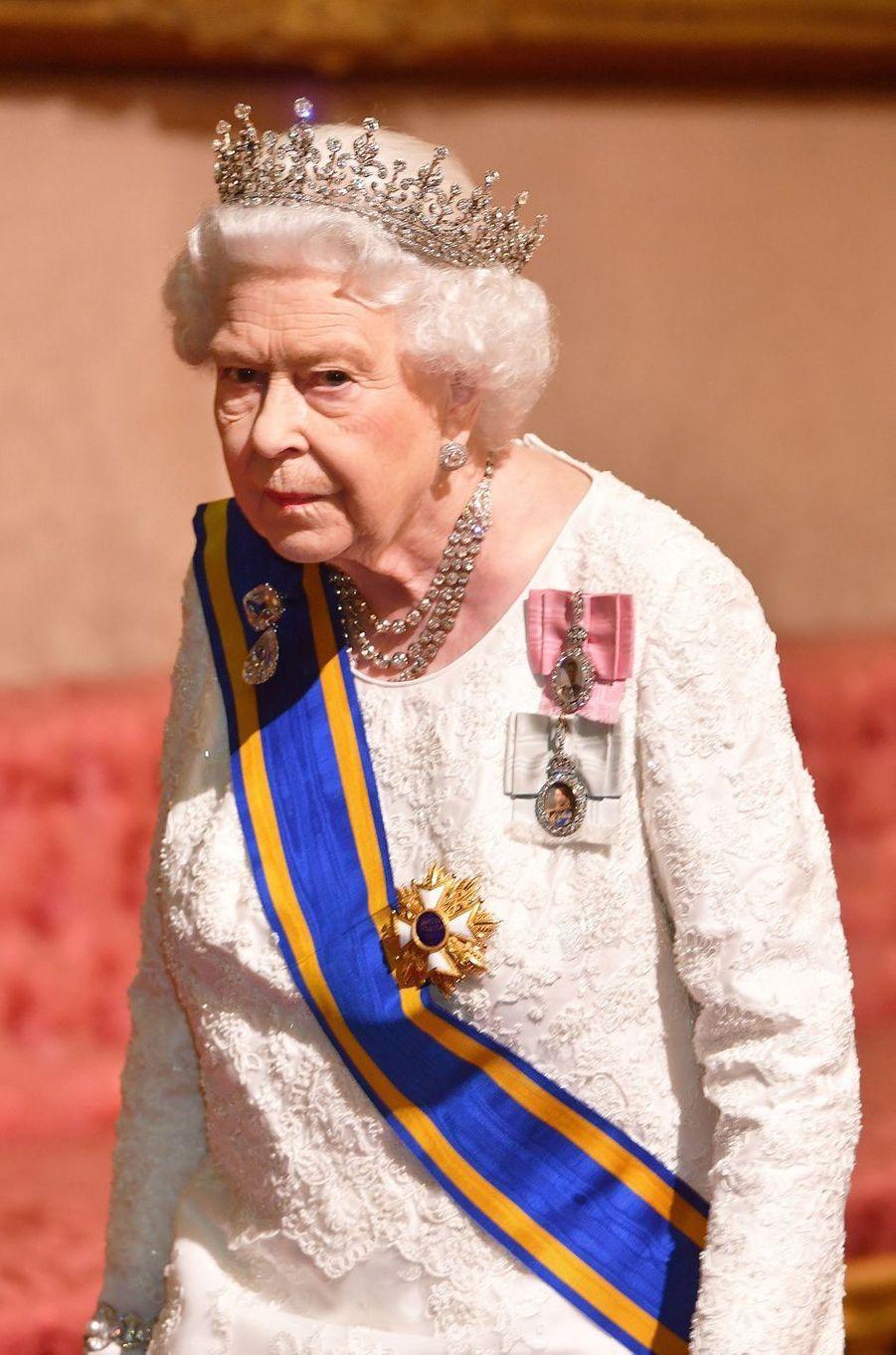 La reine d'Angleterre Elizabeth II à Londres, le 23 octobre 2018