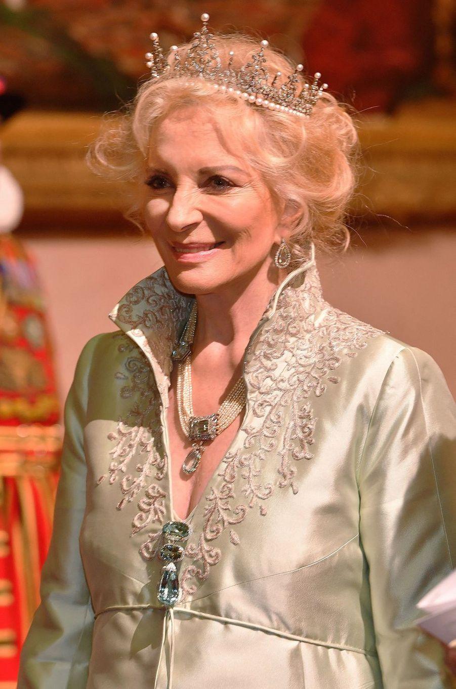 Marie-Christine, épouse du prince Michael de Kent, à Londres le 23 octobre 2018