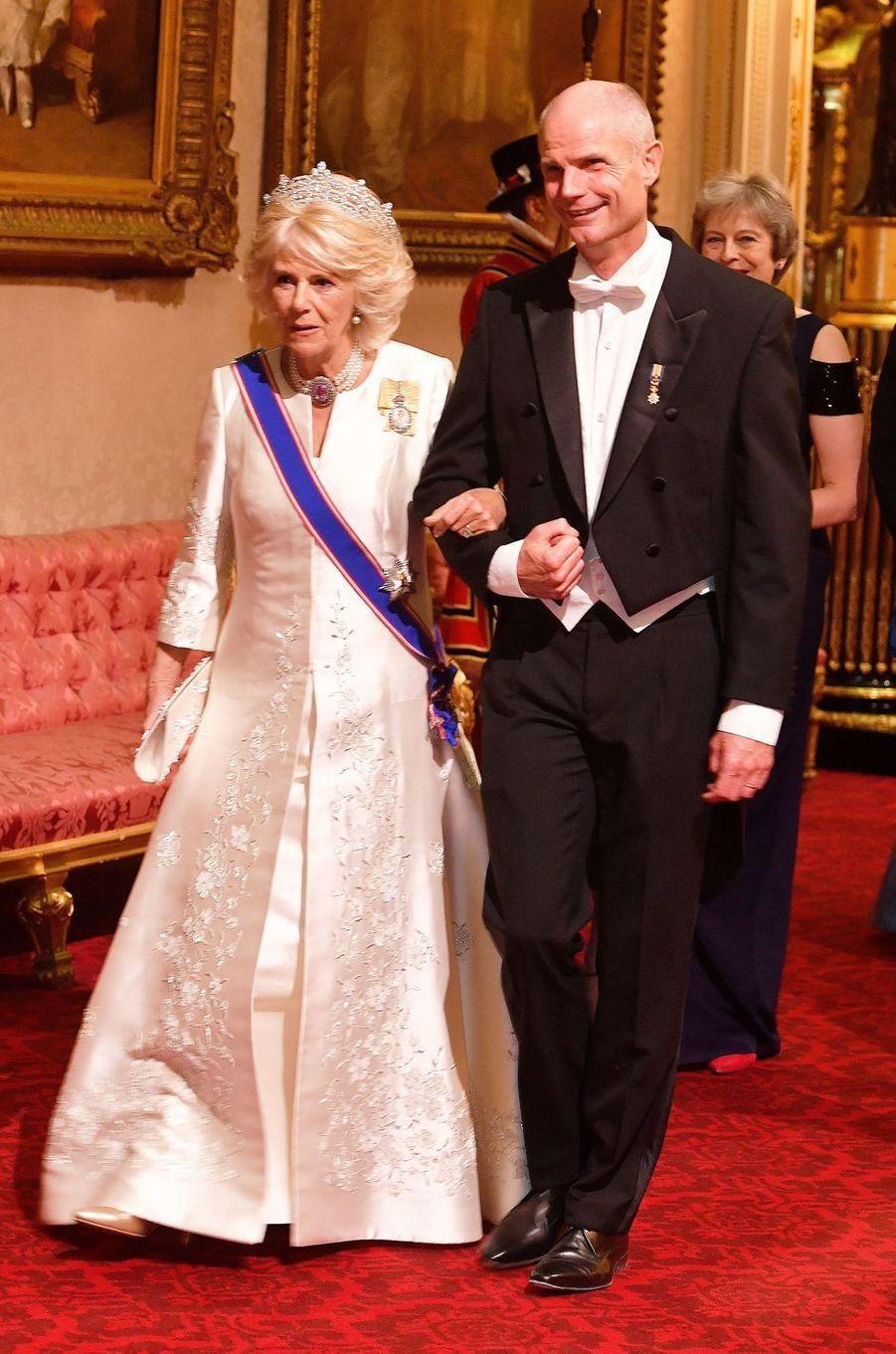 La duchesse de Cornouailles Camilla à Londres, le 23 octobre 2018