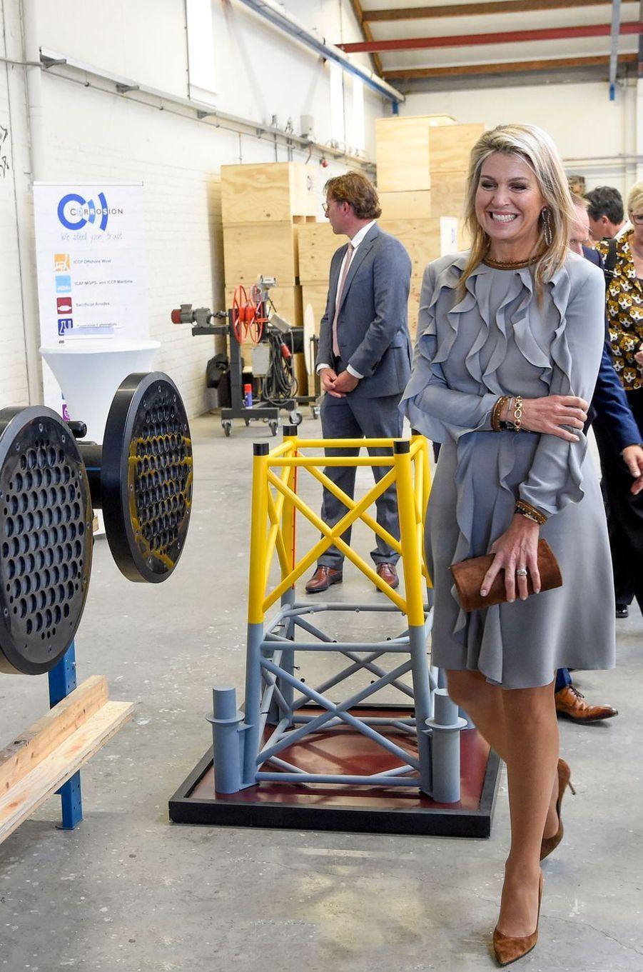 La reine Maxima des Pays-Bas visite une PME à Moerkapelle, le 3 octobre 2018